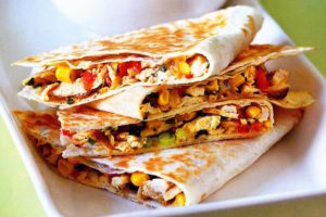 how to make a chicken quesadilla